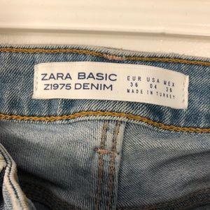 Zara Jeans - Zara basic denim distressed jeans